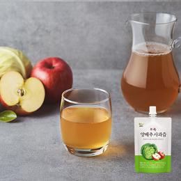 123무농약 양배추에 사과를 더해 맛있는 건강 한 잔