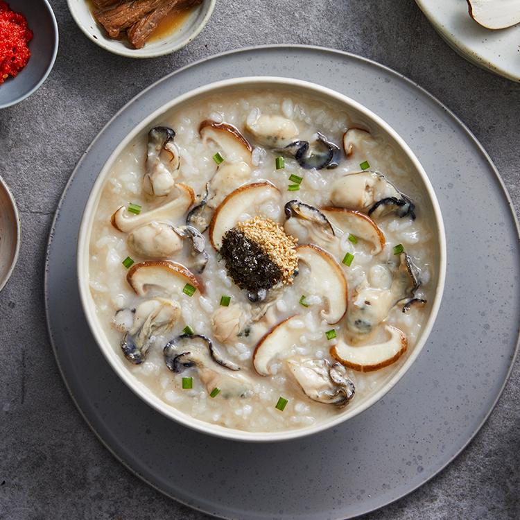 영양 만점 굴과 쫄깃한 버섯의 만남